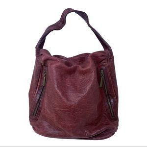 Bryna Nicole Serrano Leather hobo shoulder bag